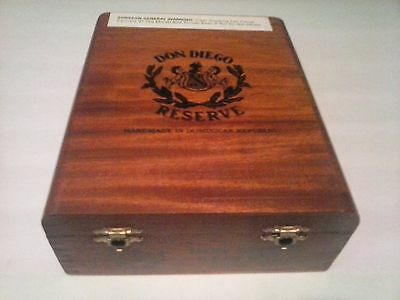 Don Diego Reserve Cigar Box.  Dimensions Are 8 1/8 X 6 5/8 X 2 3/4.