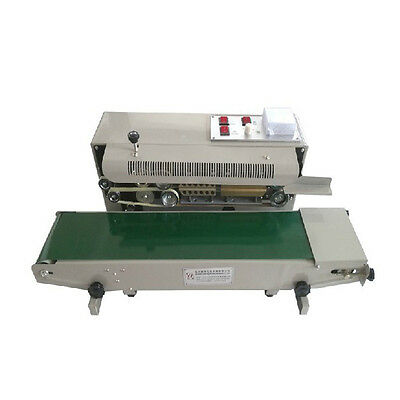 Automatic Horizontal Continuous Plastic Bag Band Sealer Sealing Machine Fr900