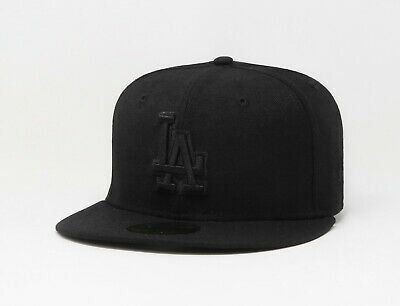 New Era 59Fifty Cap MLB Los Angeles Dodgers Black Fitted Baseball Hat 5950