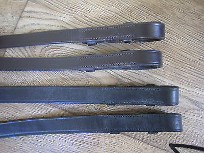 51453 Treadstone Chetak Leather Rubber Flexi Grip Reins - All Colours & Sizes