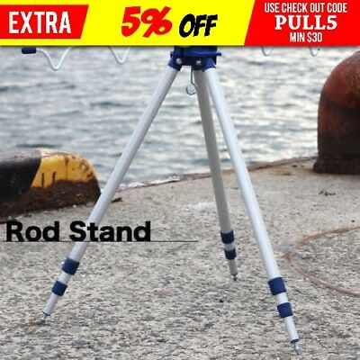 5 Five Rod Portable Fishing Rod Holder Tripod Stand Rest Rack Au Post