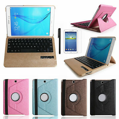 "360° Bluetooth Keyboard Leather Case Cover For Samsung Galaxy Tab A 9.7"" T550"