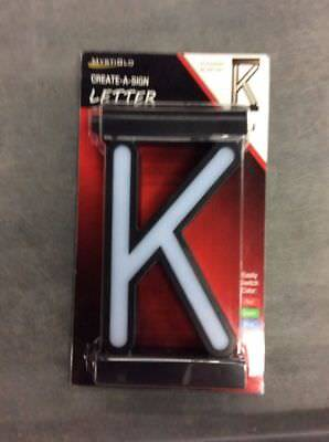 custom mystiglo business signage store create a sign 3 color light letter k
