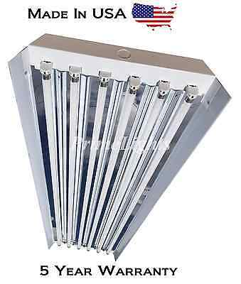 (6) FIXTURES - 6 LAMP T5HO High Bay Fluorescent  Light Fixture - W/ BULBS