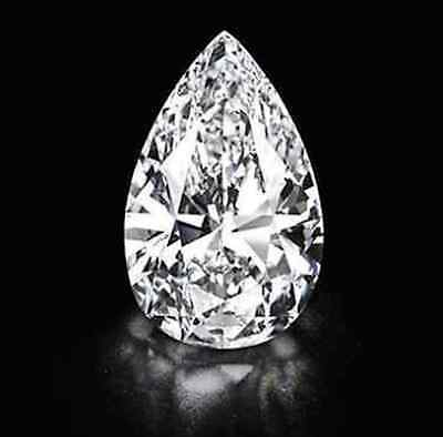 Cubic Zirconia White Pear AAA Quality CZ Loose Stones (3x2mm - 18x13mm)