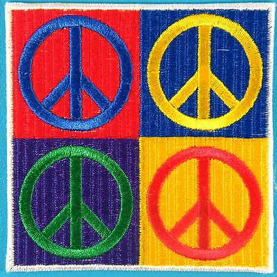 b6dfb1d50fad Peace Sign Hippie Love Freedom Boho Retro Biker Embroidered Iron on Patch