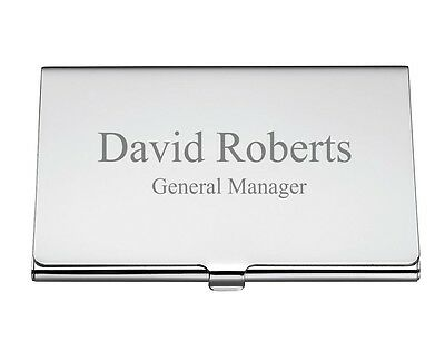 Personalized Quality Shiny Metal Business Card Holder - Free Engraving