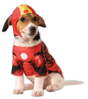 Iron Man Marvel Avengers Superhero Fancy Dress Up Halloween Pet Dog Cat Costume