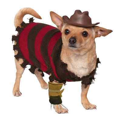 Freddy Krueger Nightmare Elm Street Fancy Dress Halloween Pet Dog Cat Costume