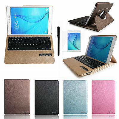 "360 Bluetooth Keyboard Leather Case Cover For Samsung Galaxy Tab A 8.0"" T350"