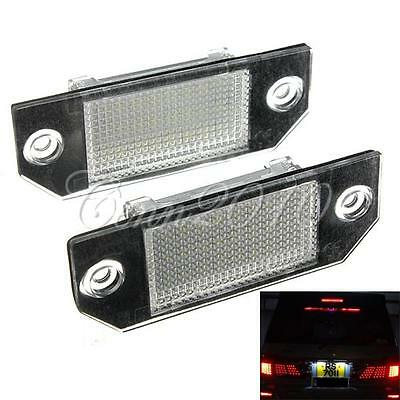 2x LED Bulb Number License Plate Light Lamp For Ford Focus C-MAX MK2 Error Free