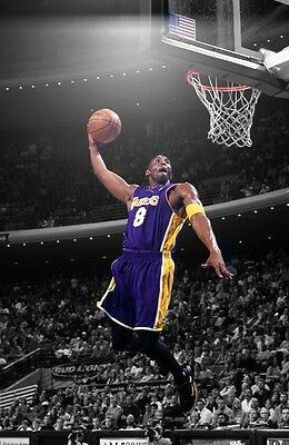 KOBE BRYANT Photo Quality Poster LAKERS - Choose a Size!  #03