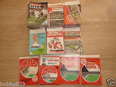 Manchester United ( Man Utd ) Home Programmes   1970's. Select from list