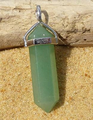 Green Aventurine Point Pendant Necklace Crystal Gemstone Jewellery healing reiki