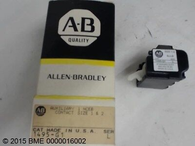 Allen Bradley 1495-G1 Ser L Auxiliary 1 Nceb Contact Size 1 And 2