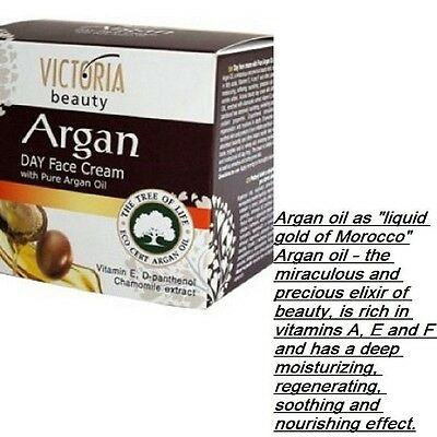 Day cream of Victoria Beauty with pure argan oil for ALL SKIN Typ, FREE UK Del
