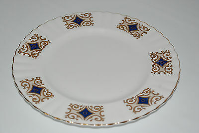 """Queen Charlotte Salad/Lunch plate(s) 8.25"""" Fine Bone China blue gold"""