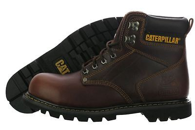 Caterpillar Second Shift Steel Toe Safety Work Boots Brown P89817