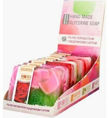 Hand made SOAP with NATURAL  ROSES- Glicerine soap Red rose, 70 g. from Bulgaria