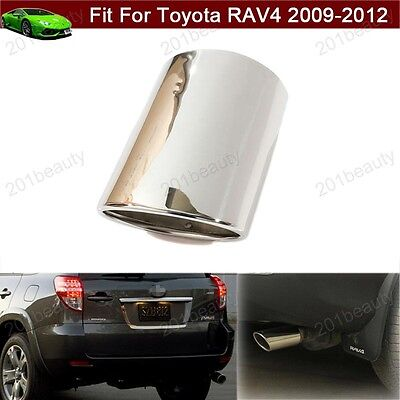 2009-2012 RAV4 STAINLESS STEEL EXHAUST TIP GENUINE TOYOTA  PT18A-42090