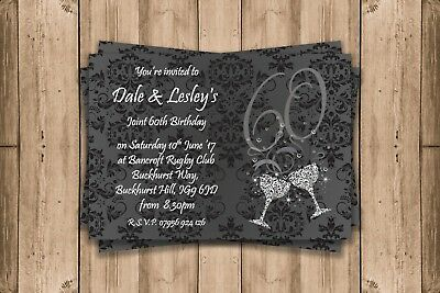 Personalised Birthday Invitations!! Party Invites! 18Th 21St 30Th 40Th 50Th 60Th