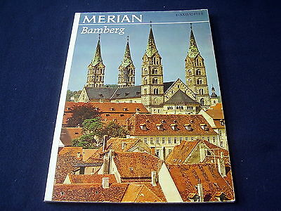 "LOVELY OLD TRAVEL-MAGAZINE / GUIDE : ""MERIAN""~BAMBERG~ca 1960's~PHOTO's~ADVERTS"