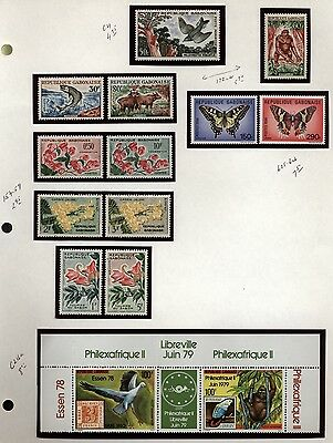 Gabon Topical Collection Animals,Birds,Fish,Butterflies,Monkeys,Flowers Mint NH