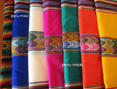 4 MANTO / MANTA FABRICS TEXTILE from CUZCO CUSCO, PERU 120x100 cm (46x39 inches)