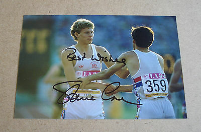 Steve Cram Signed 6x4 Photo Autograph British Olympic Legend Memorabilia + COA