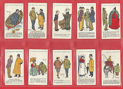 F. & J. Smith  -  Very  Rare  Set  Of  50  Phil  May  Sketches  Cards  -  1908