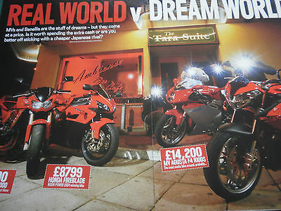 BENELLI TNT vs MV AGUSTA F4 1000S vs BLADE / Z1000  #  COLOUR ARTICLE # 11 PAGES