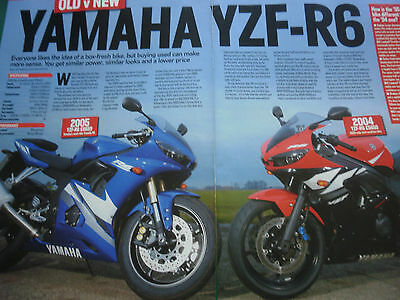 2004 YAMAHA YZF-R6 vs 2005 YAMAHA YZF-R6 # COLOUR ARTICLE # 4 PAGES