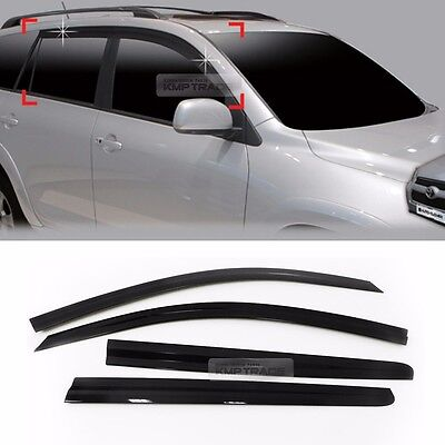 Smoke Window Sun Vent Visor Rain Deflector Guards 4p For TOYOTA 2006-2012 RAV4
