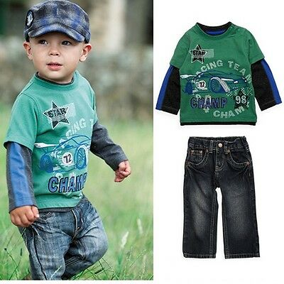 Boys 2 piece outfit,long sleeve shirt and jeans size 4-5 years