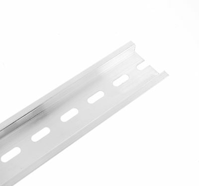 200mm Length 0.65ft Aluminum U Groove C45 Switch Meter Slotted DIN Rail  x  2