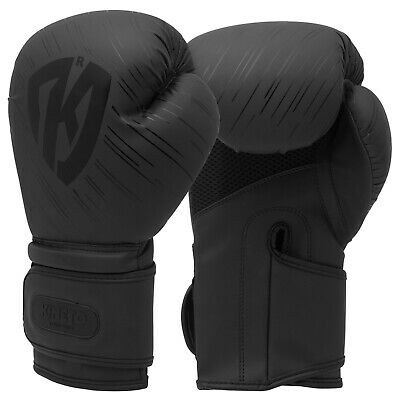 VELO Leather Boxing Gloves MMA Training Sparring Punch Bag MuayThai Kickboxing