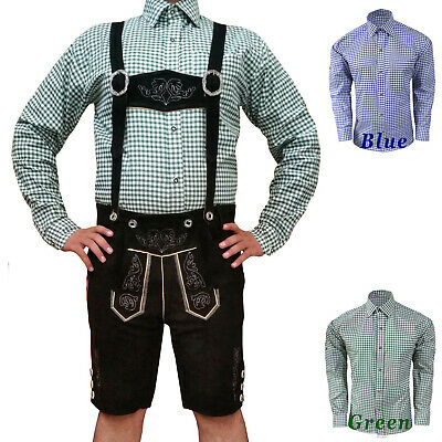 German Bavarian Trachten Oktoberfest Men's Wear Short Lederhosen Package / Set