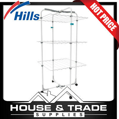 Hills Premium 3 Tier Clothes Airer 19m Drying Space FE209547