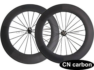 U Shape 88mm Clincher carbon road bicycle wheelset 20.5mm,23mm,25mm rim width
