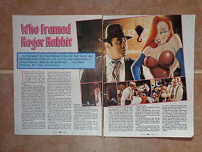 Who Framed Roger Rabbit_MAGAZINE CLIPPINGS_ships from AUS!_13h