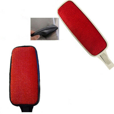 Rotating Lint Brush Fabric Pet Hair Remover Fluff Dust Cleaning Clothes Sofa Red