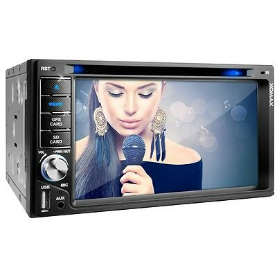 Autoradio Gps Navigatore Bluetooth Touchscreen Dvd Cd Usb Sd Mp3 Aux Doppio 2Din