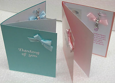 Memorial Keepsake Card Bereavement Miscarriage Stillborn Baby Loss Memory Charm