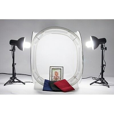 "StudioPRO Studio 20"" Table Top Lighting Cube Tent Product Photography Light Kit"