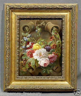 "20th Century Floral Still Life Oil Painting signed ""Bruyere, 1834"""