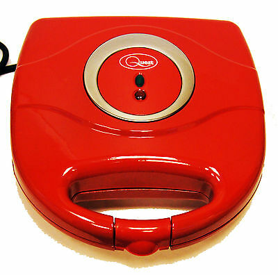 NEW Kitchen Electric 2 Slice Sandwich Toast Toaster Maker 750w Non Stick Red