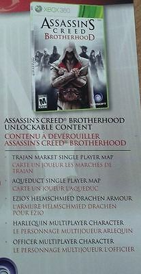 Assassins Creed Brotherhood DLC Code - 2 Maps + 2 Characters + Armour  Xbox 360