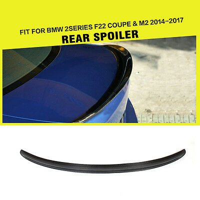 P Style Carbon Fiber Rear Trunk Spoiler Wing Lips for BMW F22 228i M235i 14-15