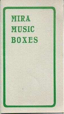 Mira Music Boxes - Advertisement - Pamplet