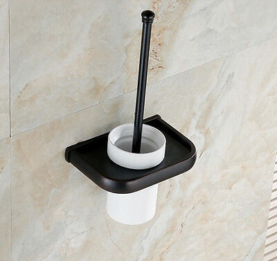 Tradition Wall Mounted Toilet Brush Holder Set Oil Rubbed Bronze